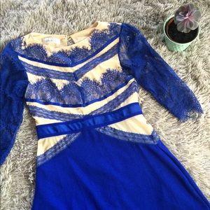 Francesca's Royal Blue Lace Dress